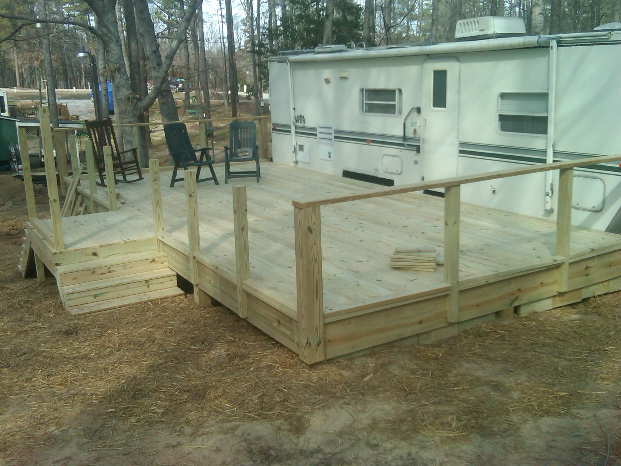 Creative CamperDeckIdeas New Deck For Camper Cooley Construction Corp