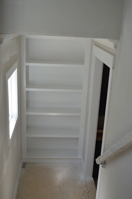 View from top of stairs