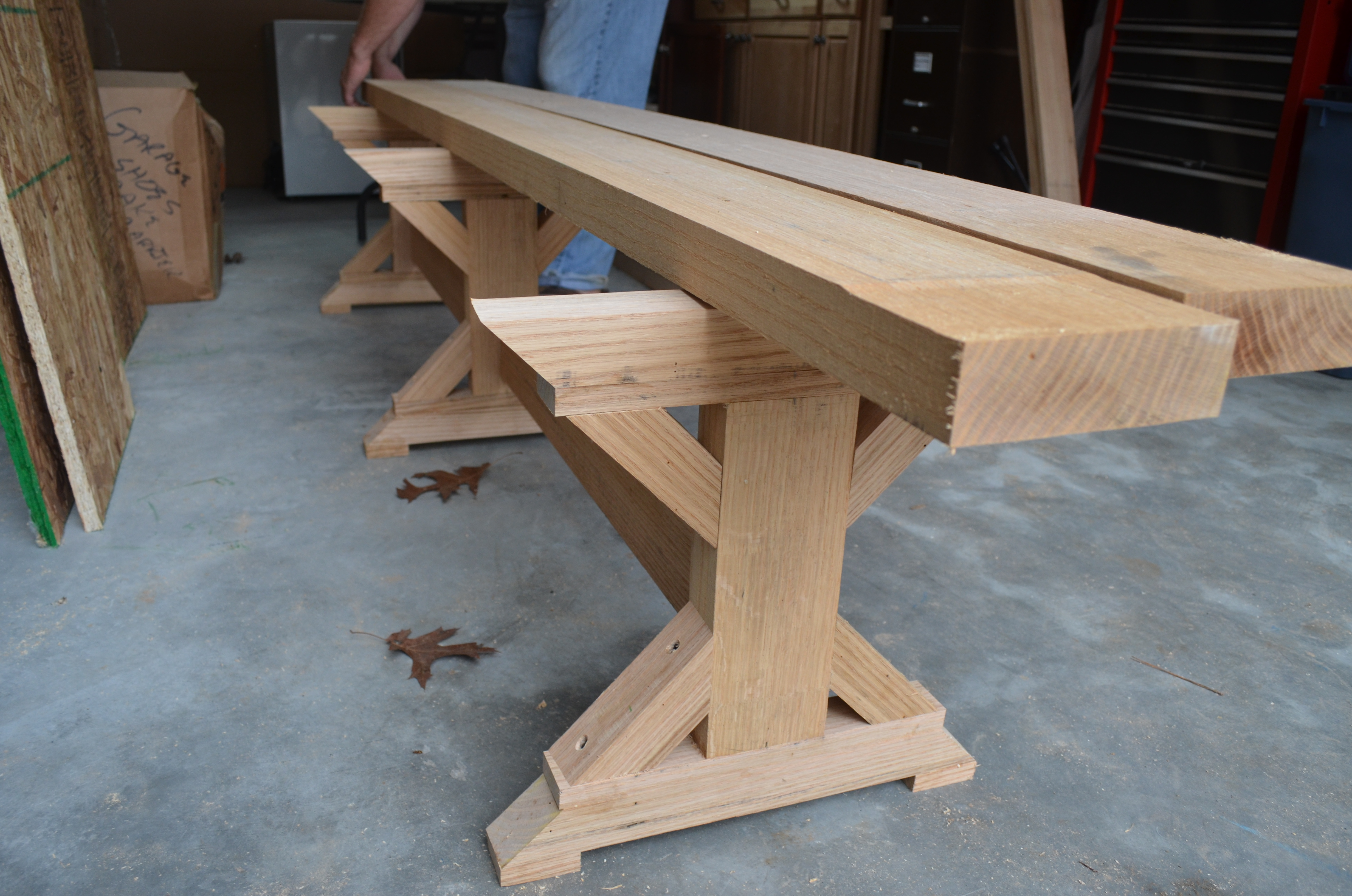 We started with the benches and I was getting so excited to have the ...